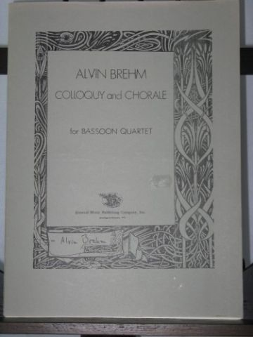 Brehm A - Colloquy & Chorale